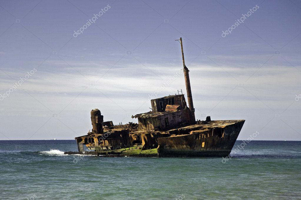 Ship wreck on a beach
