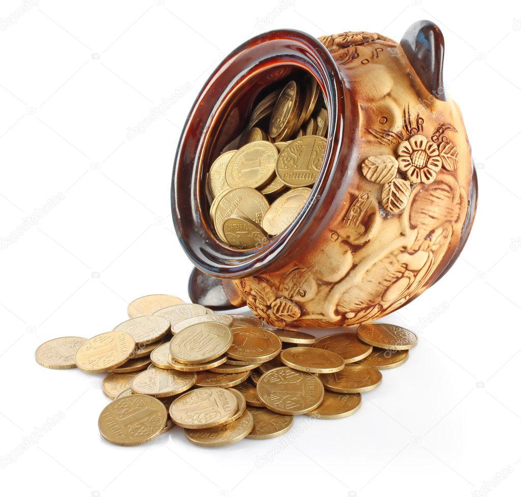 будут представлены кувшин с золотыми монетами фото декорировать шампанское технике