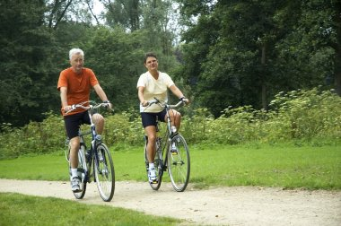 Biking Senior Couple