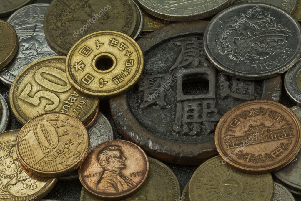 Münzen Verschiedener Länder Stockfoto Marphotography 6395101