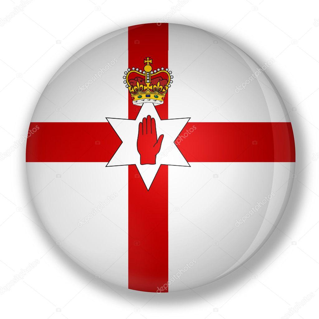 badge with flag of northern ireland u2014 stock photo marphotography