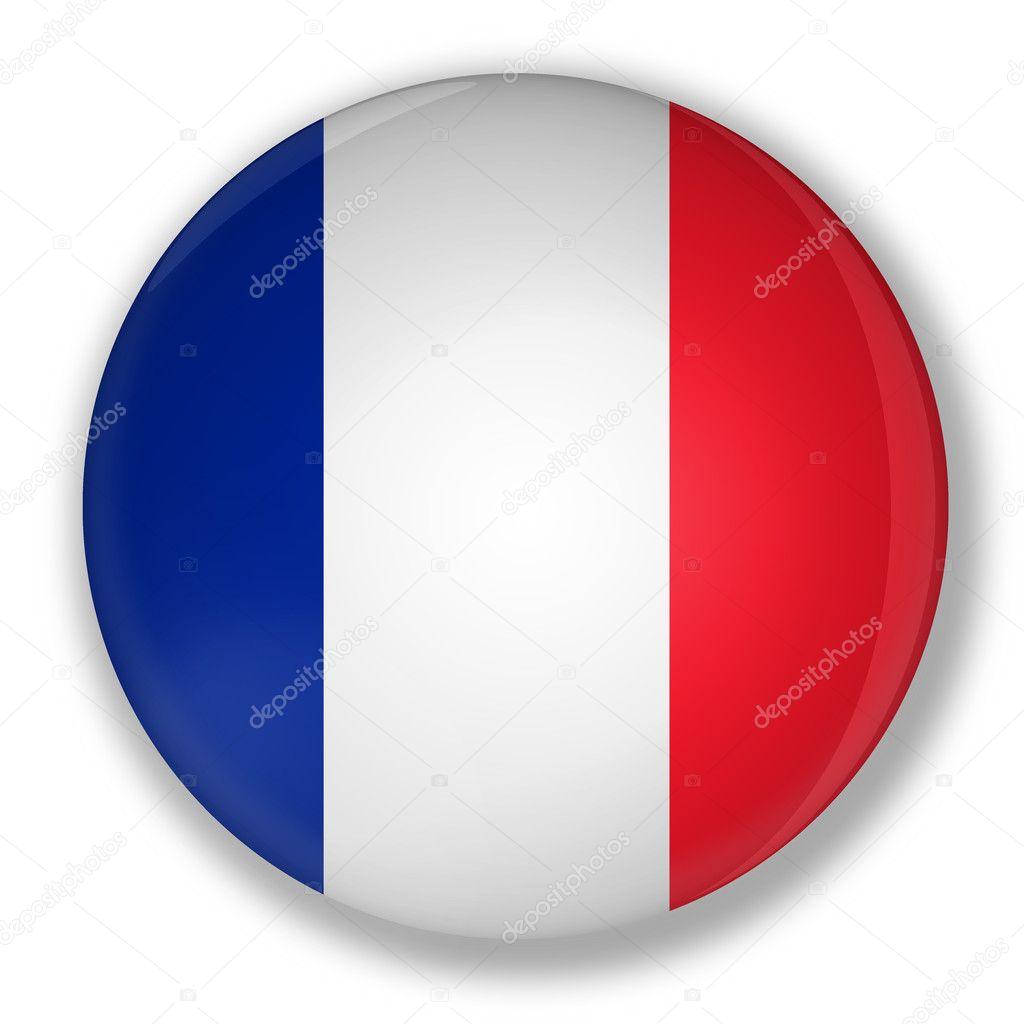 Excepcional distintivo com a bandeira da França — Stock Photo © marphotography  XZ66