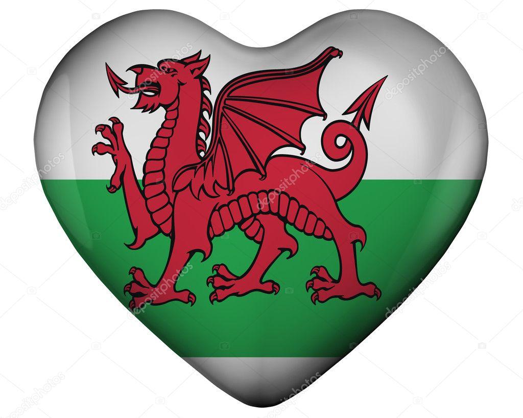 corazón con la bandera de Gales — Foto de stock © marphotography ...