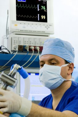 Anesthetist working at this workplace