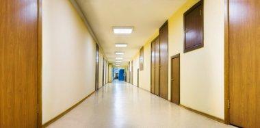 Long yellow corridor