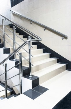 Staircase with stair railing