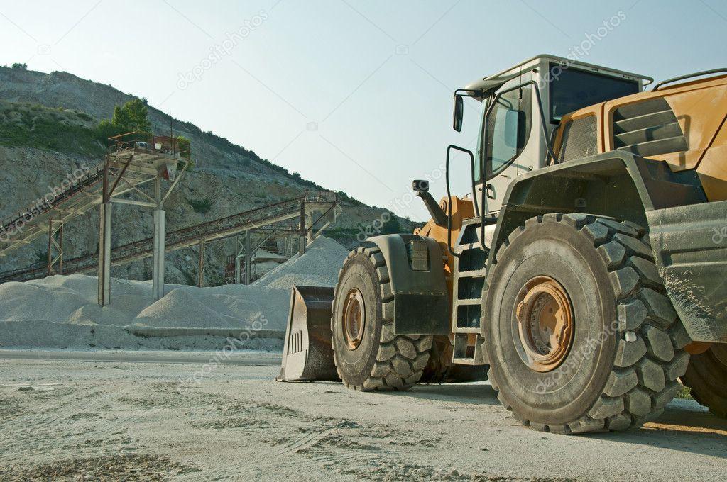 Quarry and Bulldozer