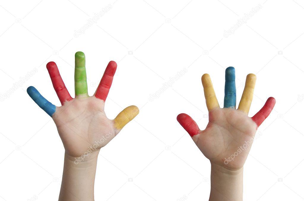 Kinder Hände farbig — Stockfoto © deyangeorgiev2 #6064393