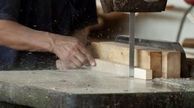 Woodworking factory worker