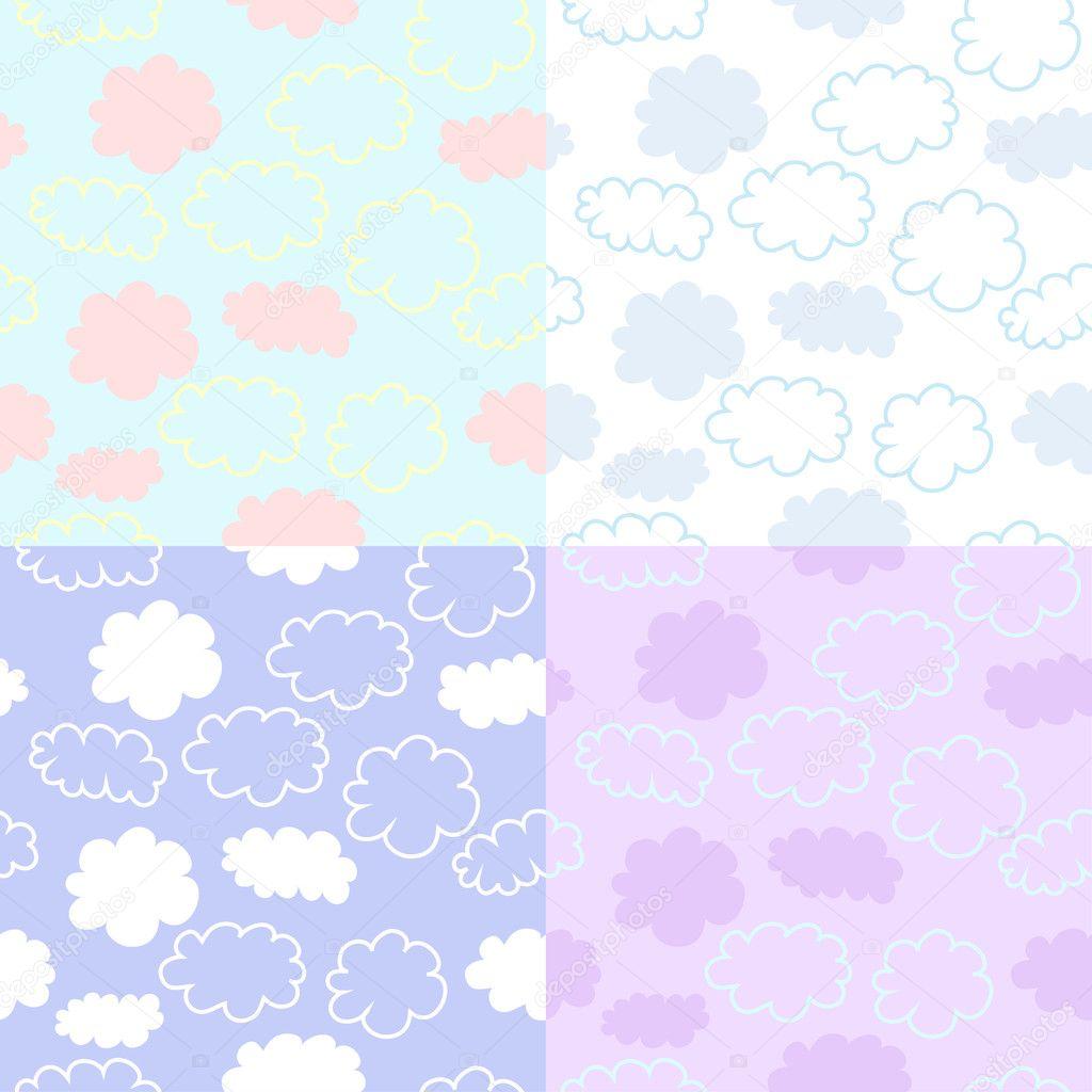 seamless cute sky vector pattern stock vector nadzeia 6073340