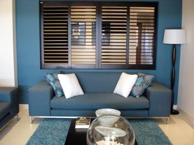 Blue Family Room