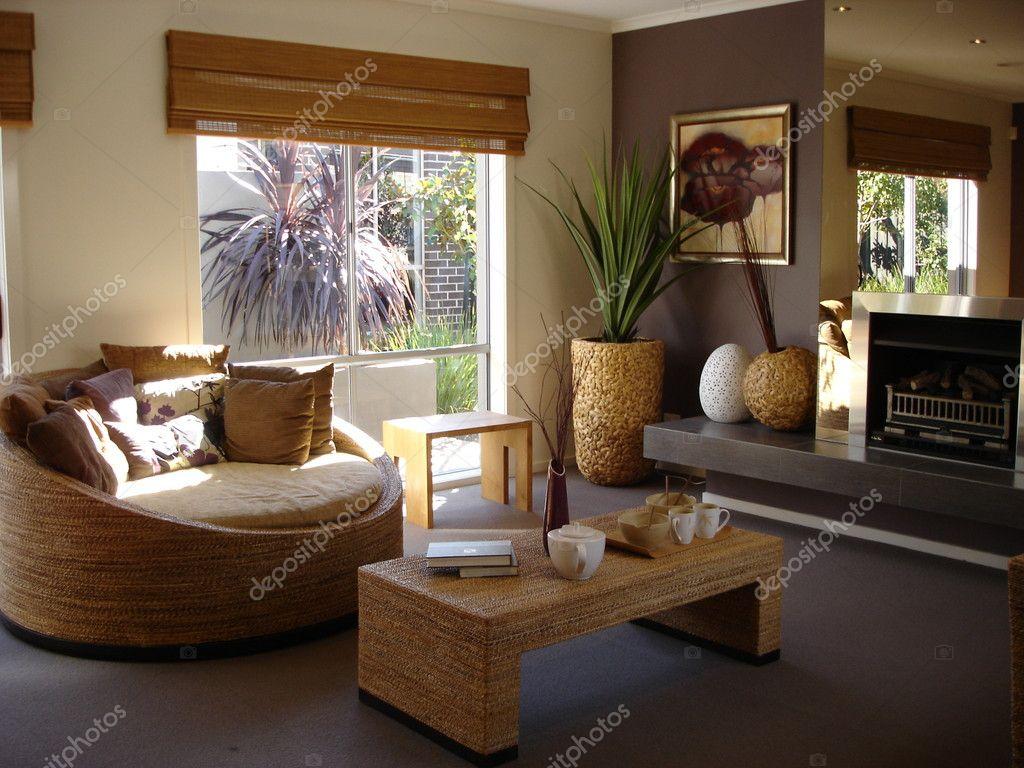 anspruchsvolle moderne Familienzimmer — Stockfoto © scarfe #6222453