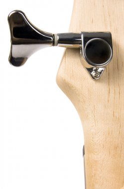 Bass guitar fingerboard head metal pin