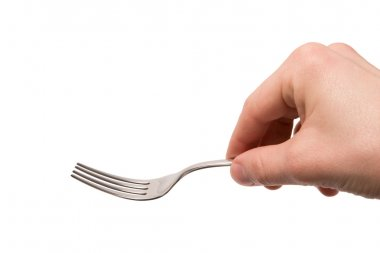 Hand with empty fork