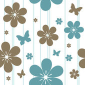 Photo Seamless floral pattern
