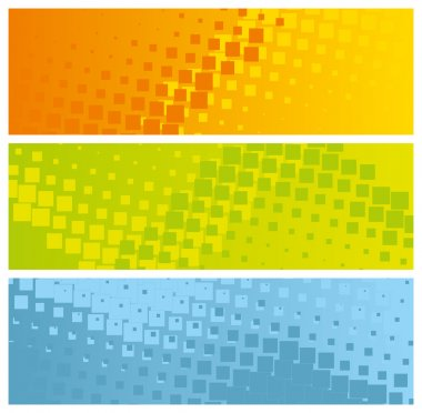 Abstract colorful banners with mosaic tiles, vector illustration clip art vector