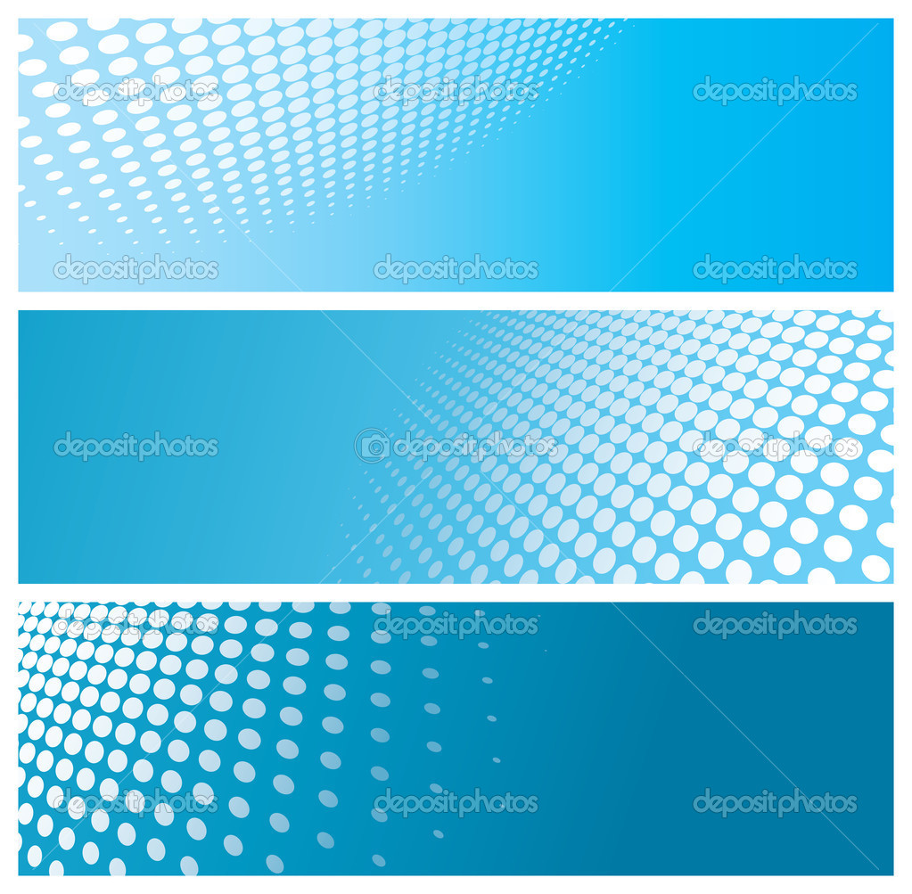 Abstract halftone banners