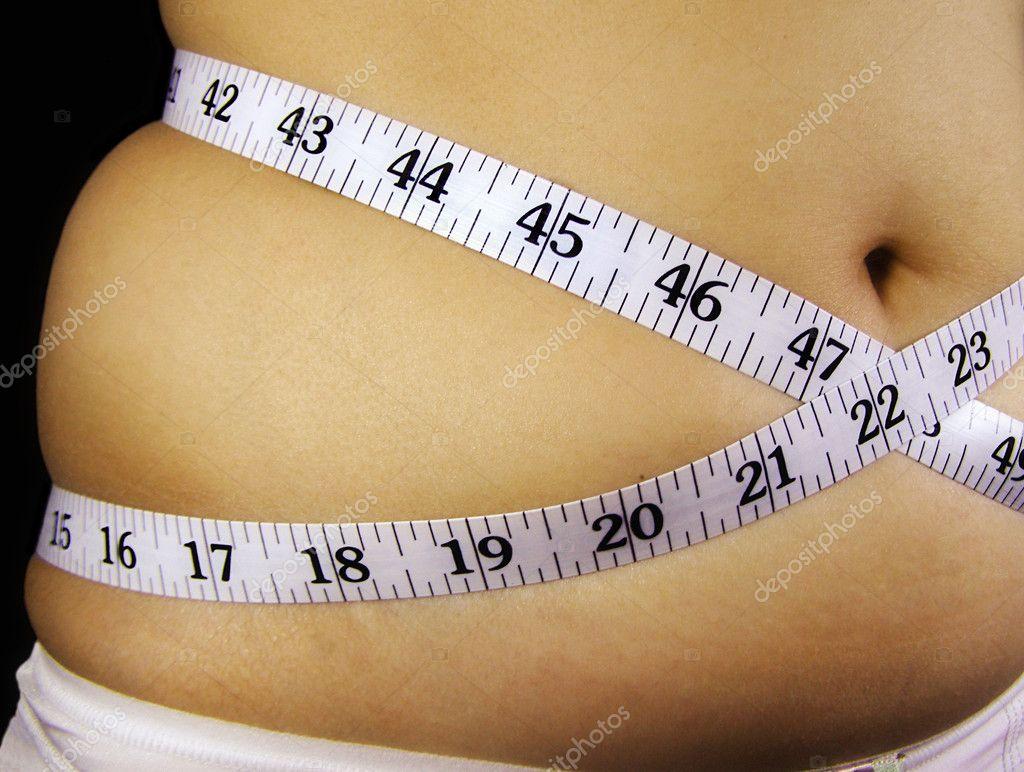 Chubby waist with measure tape