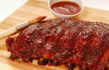 Slab of BBQ spare ribs