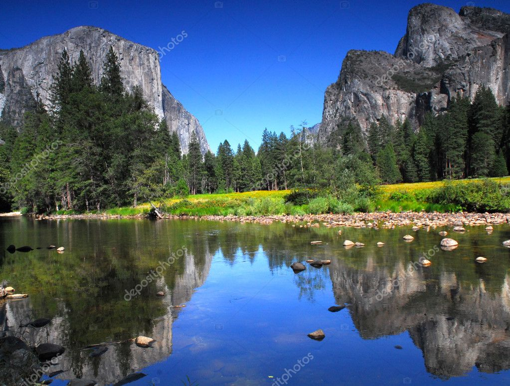 View of El Capitan in Yosemite National Park