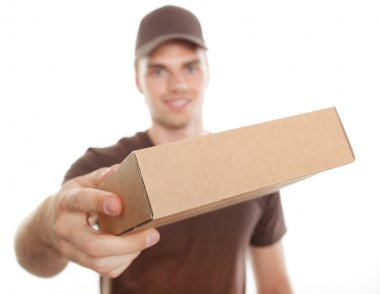 A delivery man is