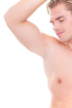 Smell on his armpit