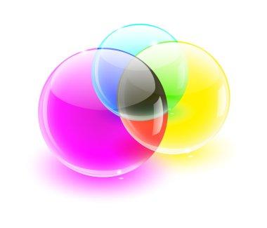 Color glass balls color MIX