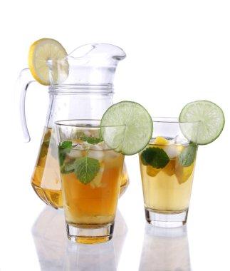 Studio photo of ice tea on white background stock vector