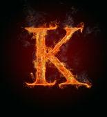 Fényképek lángoló betűtípusok, betű k
