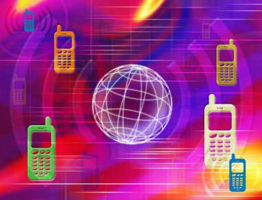 Mobile phones Illustration