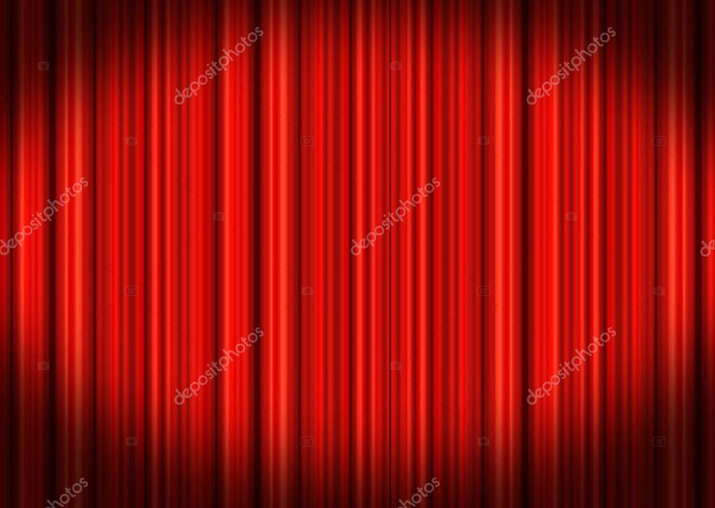 rood theater gordijnen — Stockfoto © hypermania #5981138