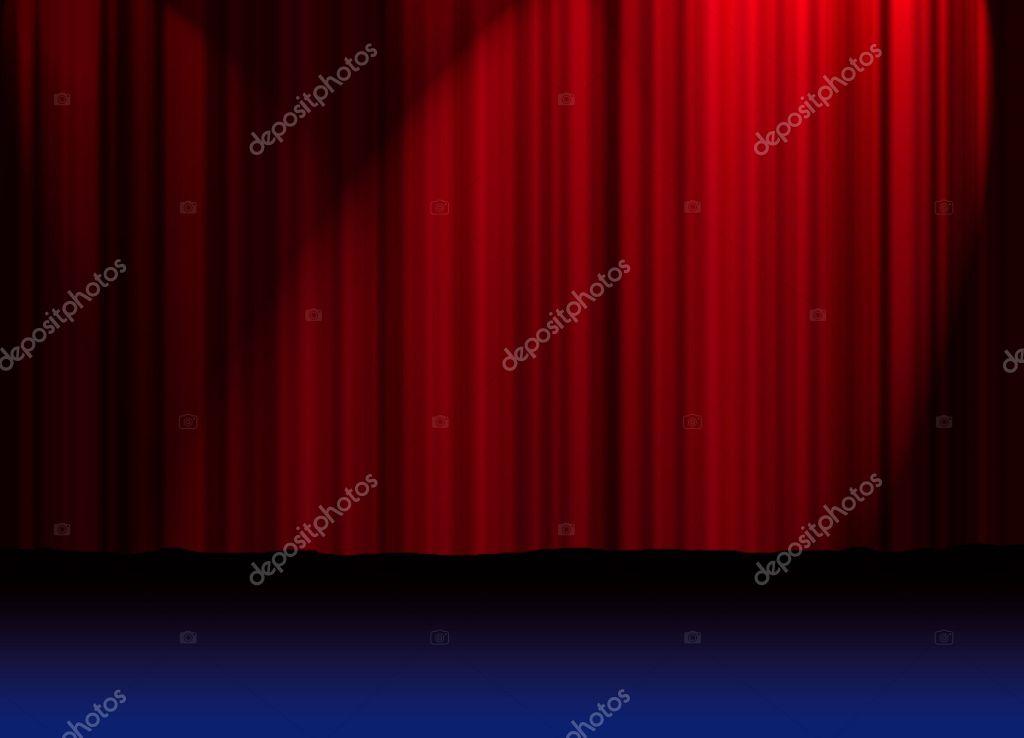 rode theater gordijnen — Stockfoto © hypermania #5988170