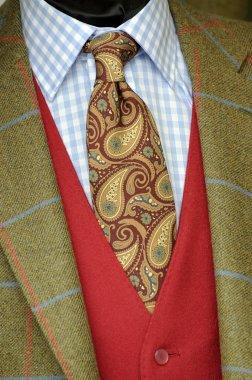 Tweed jacket and tie