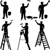 Fotografie různé pracovníky malíři siluety
