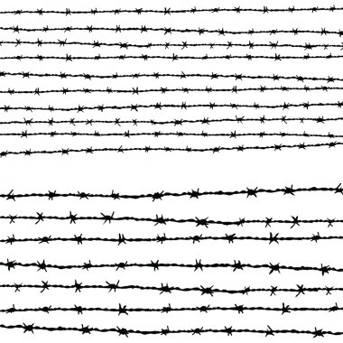 Barbed wire horizontally