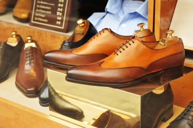 Shoes in window shop