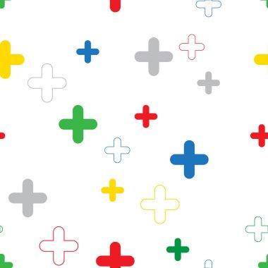 Google plus seamless pattern