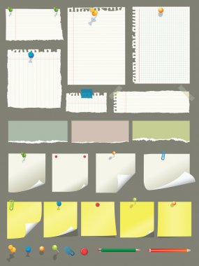 High details vector illustrations of paper collection. Easy editable with very organised layers(eps) stock vector