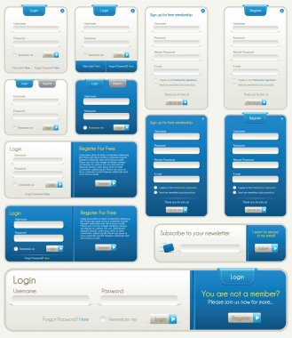 Vector Website Forms | Blue