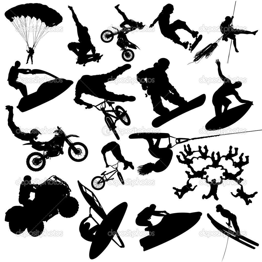 extreme sport silhouettes � stock vector 169 solidistanbul