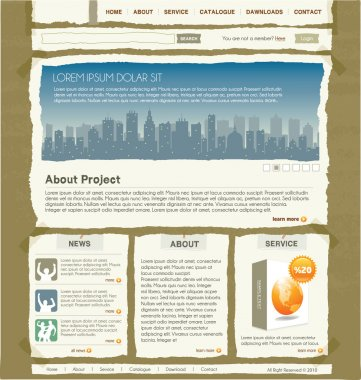 Paper Web Site Design Template