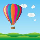 színes hőlégballon