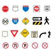 Fotografie Traffic and road signs