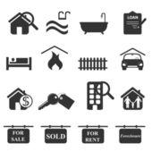 Fotografie Immobilien-Symbole