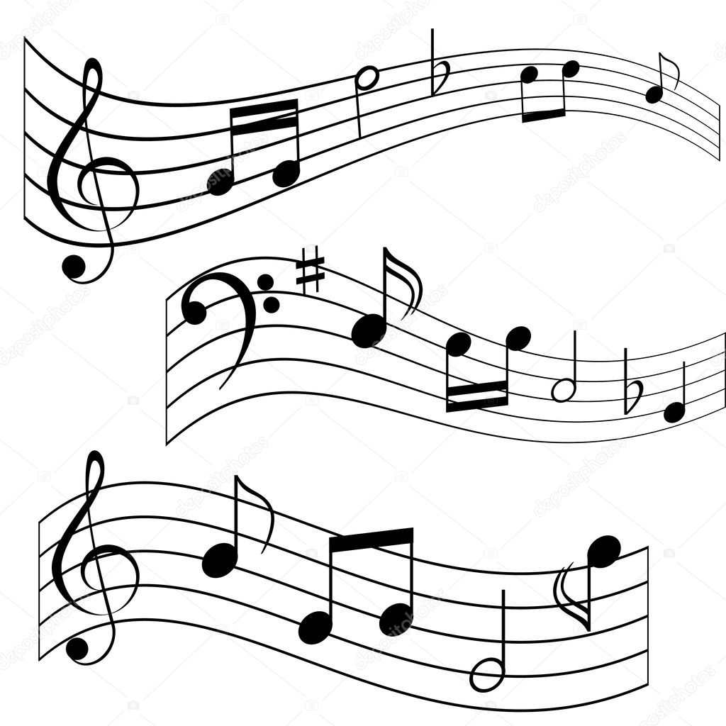Music notes stock vector soleilc 5984515 for Note musicali dwg