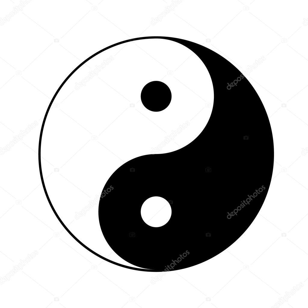 yin yang symbol stock vector soleilc 5984851 rh depositphotos com Cool Yin Yang Symbols yin yang symbol vector download