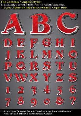 Set 3D Alphabet