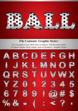 Ball Style Letters with graphic style