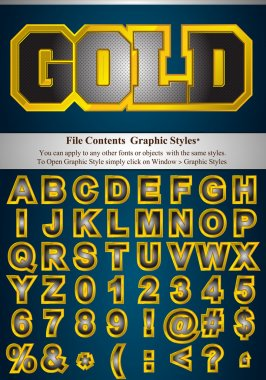 Metallic Letters with graphic style
