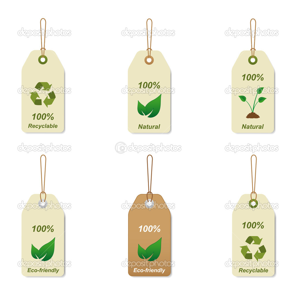 Recyclable and natural tags